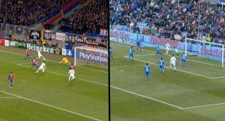 Benzema ya hizo una asistencia similar a Cristiano en Basilea