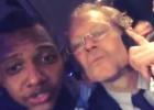 Izquierdo celebra con Preud'homme la Copa Belga