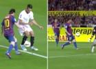 El golazo de Messi que dejó retratados a Spahic y Palop