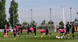 Entreno para los suplentes contra el Atlético y Cristiano