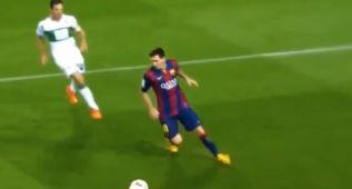 La maniobras con el cuerpo con las que nos deleita Messi