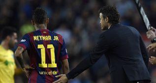 Esta vez Luis Enrique no quitó a Messi, Neymar ni Luis Suárez