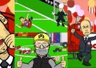 Guardiola y Xabi, estrellas en la parodia de la copa alemana