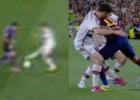 Neymar pisó entre Xabi y Lahm y el caño de Alves a Thiago