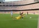 La doble intervención de Fabricio al Barça, mejor parada