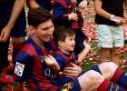 La celebración de 'Papá' Messi