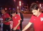 Tras la derrota, triste regreso del Athletic a su hotel