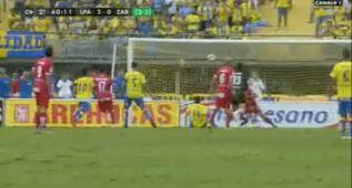 El gol de Araujo que le dio el ansiado ascenso a Las Palmas