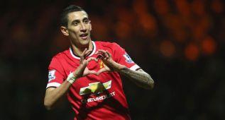 Los goles y regates de Di María con el Manchester United