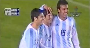 La jugada de Argentina que dejó a España sin Messi en 2004