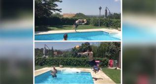 De Gea espera al Madrid practicando el 'Futpool'
