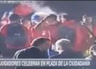 Gary Medel se burla de los uruguayos en la celebración