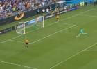 ¡Cómo le pegó Courtois al lanzar el penalti ganador!