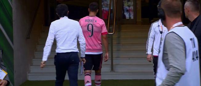 Así fue el enfado de Morata en el momento del cambio