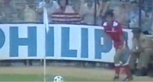 El genial córner olímpico de Landáburu en la final de Copa