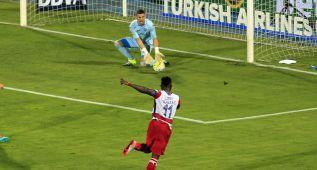 La cantada grotesca de Guaita en el segundo gol del Granada