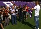 Así fue la presentación de Diego Rubio en Real Valladolid