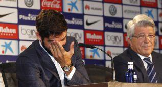 Raúl García se despidió del Atlético entre lágrimas