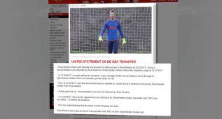 """El United responde al Madrid: """"Encantados con De Gea"""""""