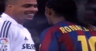 Ronaldinho se mide a Ronaldo y el resultado es espectacular