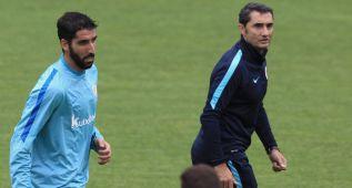 Gran expectación en el primer entrenamiento de Raúl García