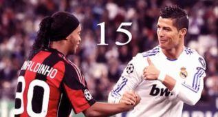 El top-15 de Ronaldinho y Cristiano es puro espectáculo