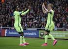 El City olvida la derrota en liga goleando al Sunderland