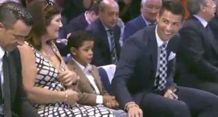 La broma de Cristiano a su hijo que hizo reír al público