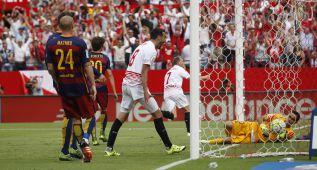 Los errores defensivos de bulto del Barça en los dos goles