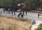 Brutal batalla campal entre hinchas del Xerez y del Cádiz