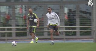 Danilo empieza a tocar balón en el último entrenamiento