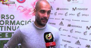 """Guardiola: """"Con Del Bosque la Selección volverá a su nivel"""""""