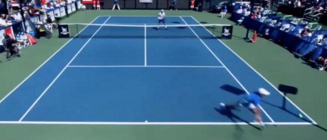 Un punto de videojuego que asombra al mundo del tenis