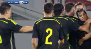 España despierta a tiempo y se desata con Asensio y Munir