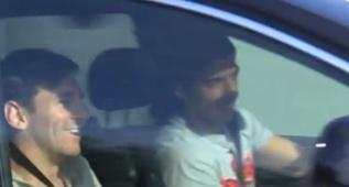 Messi, sonriente a pesar de sus problemas con Hacienda