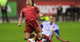 La brutal entrada que sacó a Silva del partido