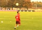 Thiago Alcántara y su notable 'lujito' en el entrenamiento