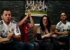 Así se sufrió la derrota en la Peña del Madrid en Santiago