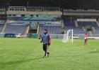 El Valencia prepara el partido ante el Zenit bajo la nieve
