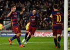 Exhibición de Messi, Luis Suárez y Neymar ante el Roma