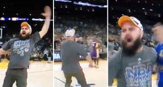 Hasta los fans de los Warriors se atreven a vacilar a los Lakers