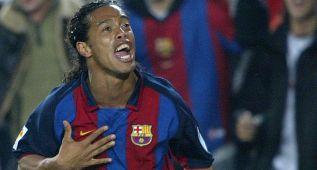 El mejor 'no gol' de Ronaldinho y su libre directo ante la Real