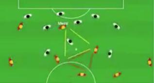 Las triangulaciones mágicas del Barça, en versión animada