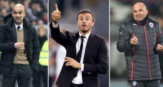 Guardiola, Sampaoli y Luis Enrique: finalistas mejor técnico
