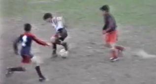 El golazo de Messi con 12 años que aún no se había visto