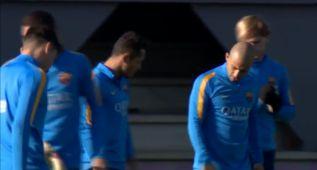 El Barcelona trabajó para preparar el duelo de Copa