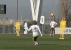 Conexión Modric - Cristiano en el entreno: ¡Qué gran pase!