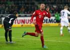 Ribery volvió tras 9 meses de baja y marcó a los 5 minutos