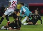 Morata perdonó la vida al Sevilla: falló en boca de gol