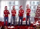 La 'gamberrada' de Raikkonen en el villancico de Ferrari